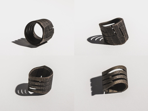 Ring_01 in Matte Black Steel