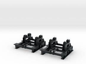 Acrylate Frame 2x in Black Hi-Def Acrylate