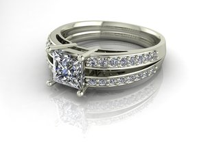 Classic Solitaire 5 NO STONES SUPPLIED in Fine Detail Polished Silver