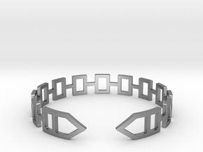 2D Houses  Bracelet Medium Size D=65mm in Natural Silver: Medium