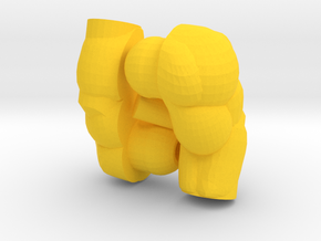 Muscular Arms for Lego in Yellow Processed Versatile Plastic
