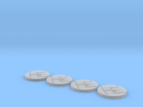 "1"" Titan Scale Bases (4)  in Smooth Fine Detail Plastic"