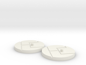 "1"" Titan Scale Bases (2) in White Natural Versatile Plastic"