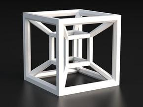 Hypercube A in White Processed Versatile Plastic