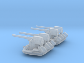 1/306 Scale 3 In 50 Cal Twin Mount in Smooth Fine Detail Plastic