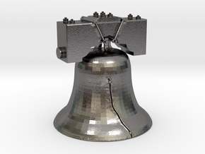 LIB-BELL-3-3-14-17.stl in Polished Nickel Steel
