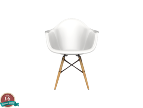 Miniature Eames DAW - Charles Eames in White Natural Versatile Plastic