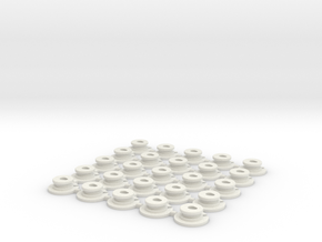 AAA-Cell Battery Base (25) in White Natural Versatile Plastic