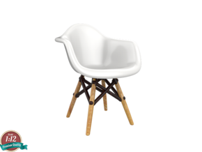 Miniature Eames DAW Chair - Charles Eames in White Natural Versatile Plastic