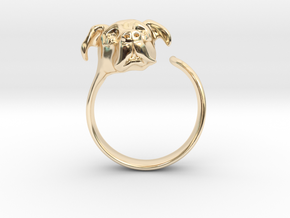Truffles the Dog in 14k Gold Plated Brass