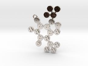 Theobromine Pendant in Platinum