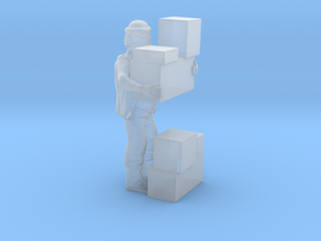 S Freight Worker Stacking Boxes Figure in Frosted Ultra Detail