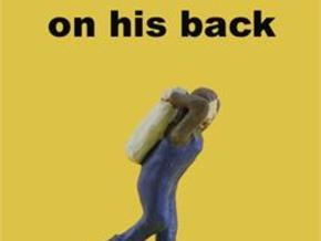 S Lugging COAL SACK on his back Figure in Smooth Fine Detail Plastic