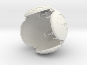 B-Bot-Upper Body in White Natural Versatile Plastic
