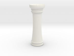 Courier chess Mann in White Natural Versatile Plastic