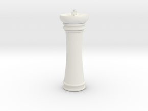 Courier chess King in White Natural Versatile Plastic