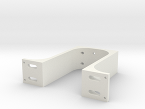 Arm Mount Offcentered Longer in White Natural Versatile Plastic
