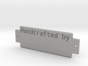 Name Plate 0002 - engrave in Aluminum