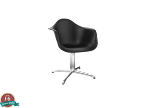 Miniature Eames DAL - Charles Eames in White Natural Versatile Plastic