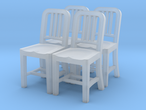 1:48 Metal Chair (Set of 4) in Smooth Fine Detail Plastic