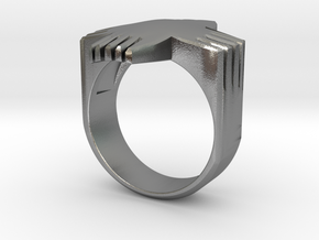 Writers' Ring  in Natural Silver: 7 / 54