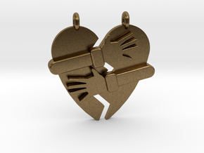 Hold My Heart Pendant (Two-Piece) in Natural Bronze