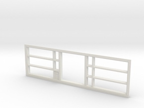 Window, 192in X 54in, With Display Shelves in White Natural Versatile Plastic