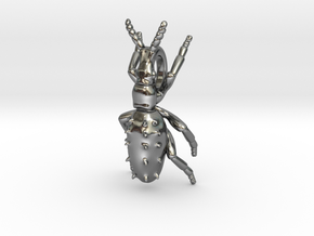 Weevil Pendant in Polished Silver