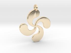 Lauburu pendant in 14k Gold Plated Brass