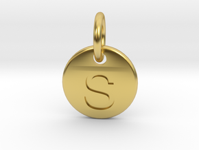 Initials Of Your Choice - S in Polished Brass (Interlocking Parts)