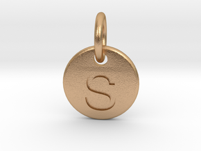 Initials Of Your Choice - S in Natural Bronze (Interlocking Parts)