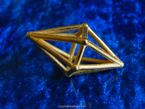 Diamond Light Crystal in Polished Gold Steel
