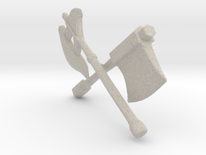 Weapons In Arms (Shielded) in Natural Sandstone: Large