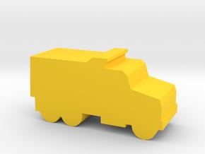 Game Piece, Dump Truck in Yellow Processed Versatile Plastic