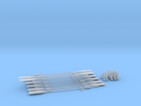 1/32 Paddels & Cradles SET in Smooth Fine Detail Plastic