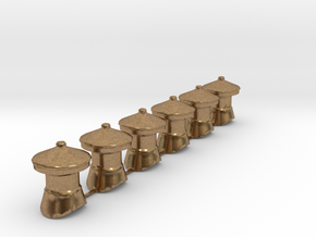 QR Vent Curved Roof X 6 in Natural Brass: 1:64 - S