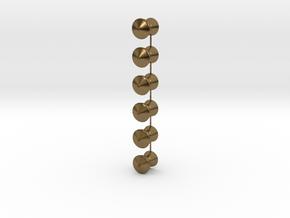 QR Vent Flat Roof X 6 in Natural Bronze: 1:64 - S