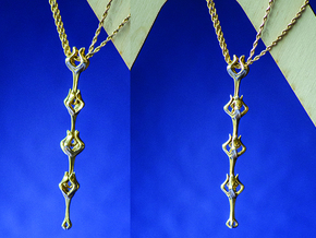 Flora x1 Pendant in Polished Brass (Interlocking Parts)
