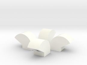 1/64 Bin Vent 8inch in White Processed Versatile Plastic