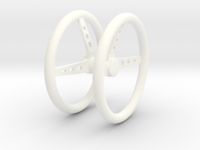Steering Wheel V3 1/18 in White Strong & Flexible Polished