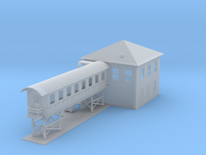 Switch Station 2 Z Scale in Smooth Fine Detail Plastic