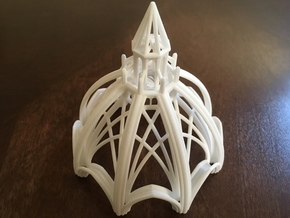 Gothic Chapel 3 Upper in White Natural Versatile Plastic
