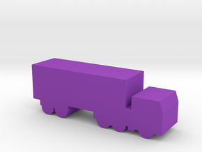 Game Piece Cabover Semi Truck in Purple Processed Versatile Plastic