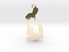 WolfRabbit in 14K Yellow Gold