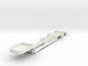 000467 Forstmaschinentransporter HO in White Strong & Flexible: 1:87 - HO