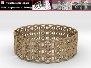 Tangentoidal Crown Curve Bracelet 65mm in Polished Brass