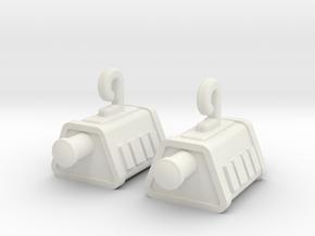 Self Sealing Stembolt Earrings in White Natural Versatile Plastic