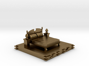 Bedroom decoration miniature in Natural Bronze: Small