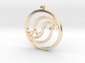 Pendant Tranquille in 14k Gold Plated Brass: Medium