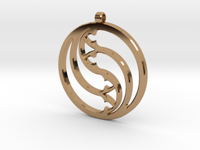 Pendant Tranquille in Polished Brass: Large